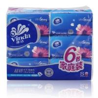 维达 抽取式纸面巾纸 130抽*3层*6包