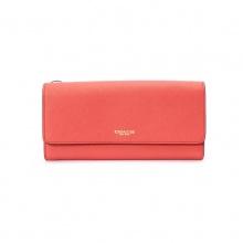 COACH SAFFIANO皮革狭长型信封钱包 红色  20cm (长) x 10cm (高 牛皮革