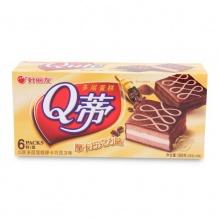好丽友 Q蒂摩卡巧克力蛋糕 168g/盒